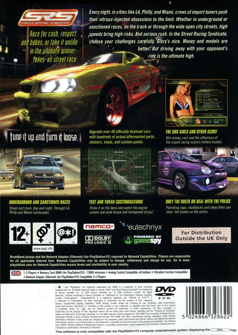 srs street racing syndicate ps2