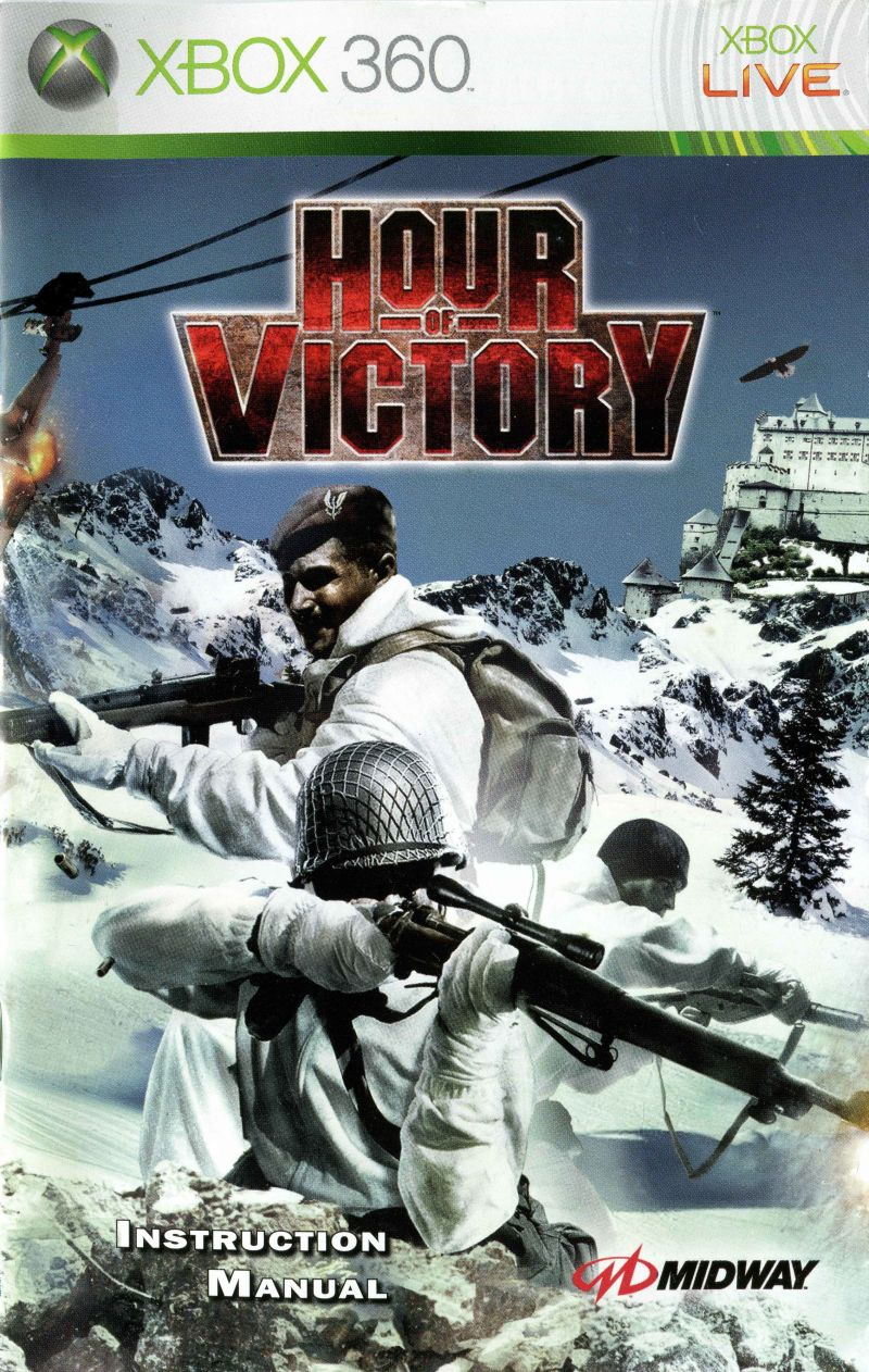 Hour of Victory Xbox 360 Manual Front