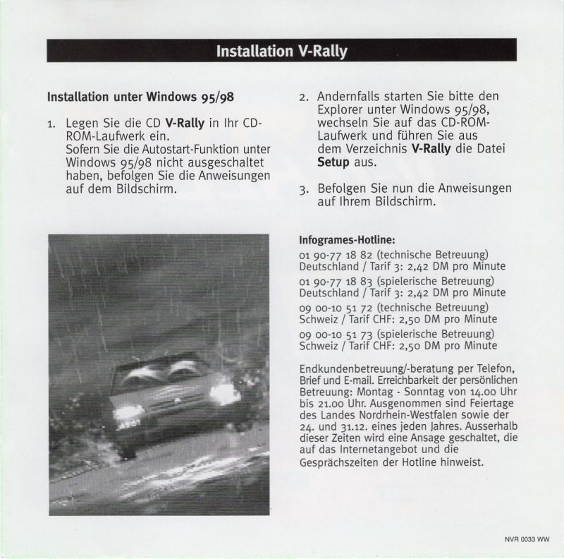 V Rally Edition 99 1999 Windows Box Cover Art Mobygames