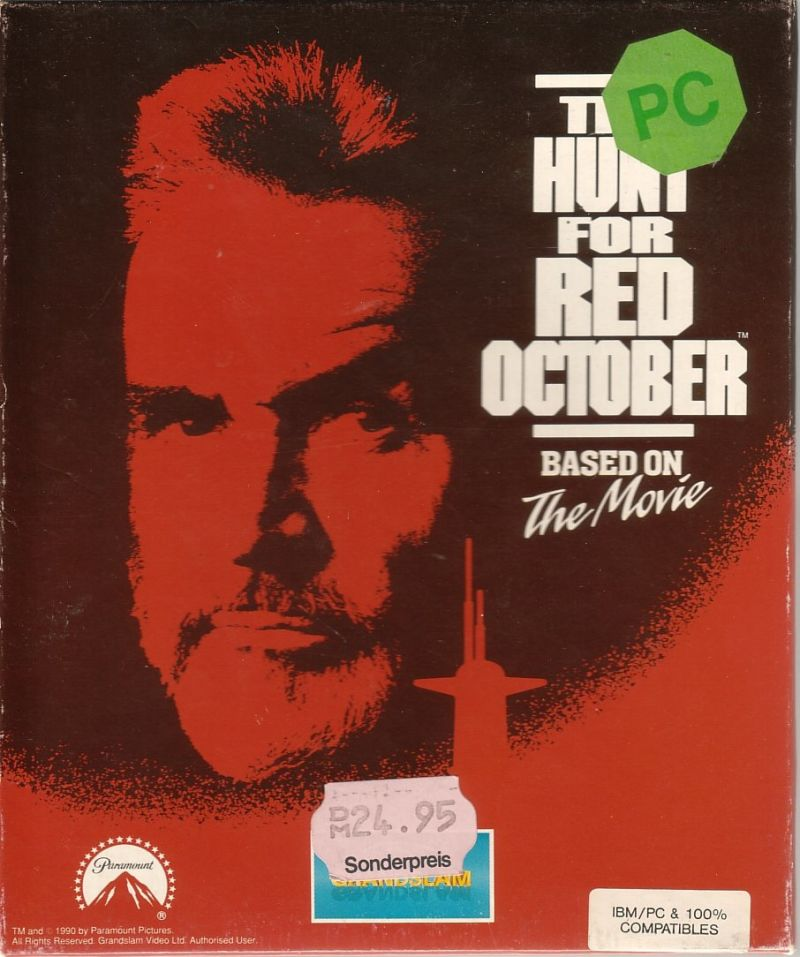The Hunt For Red October 1990 Box Cover Art Mobygames