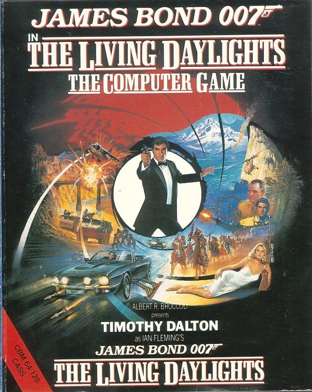 James Bond 007 in The Living Daylights: The Computer Game Commodore 64 Front Cover