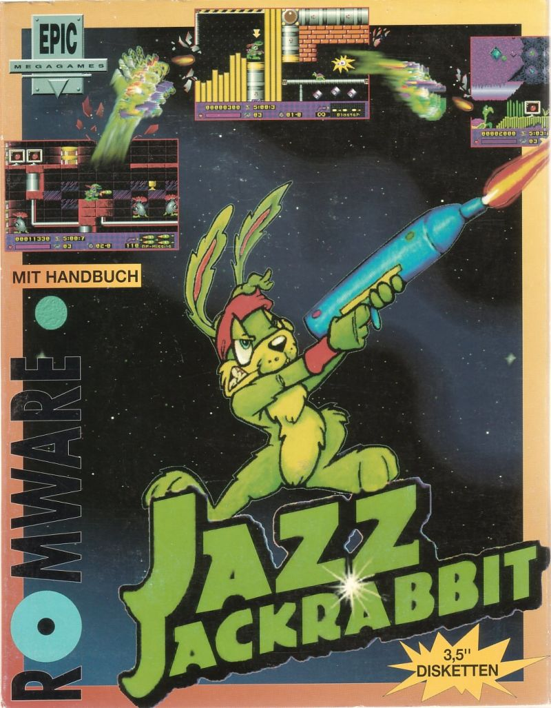 Jazz Jackrabbit DOS Front Cover