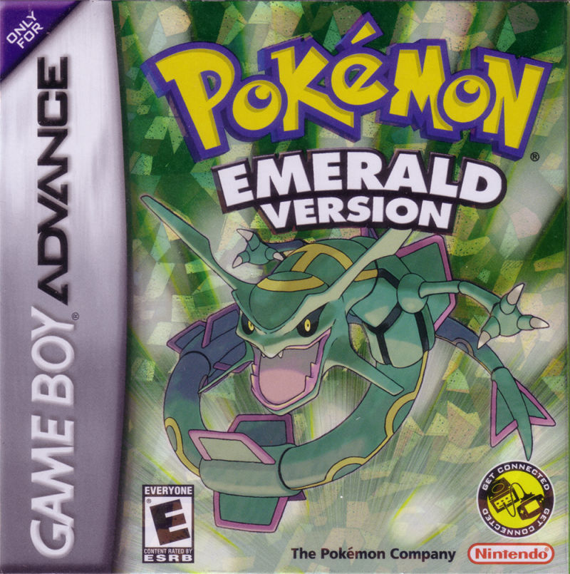Pokémon Emerald Version Game Boy Advance Front Cover
