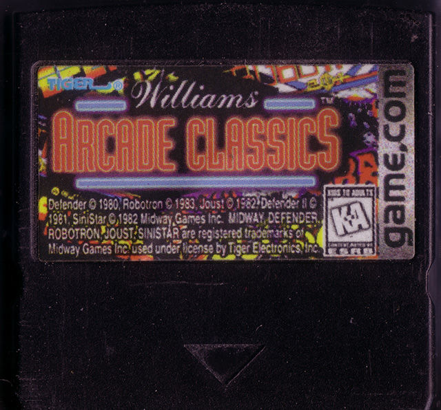 Williams Arcade Classics Game.Com Media