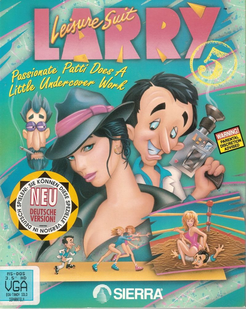 Leisure Suit Larry 5: Passionate Patti Does a Little Undercover Work DOS Front Cover