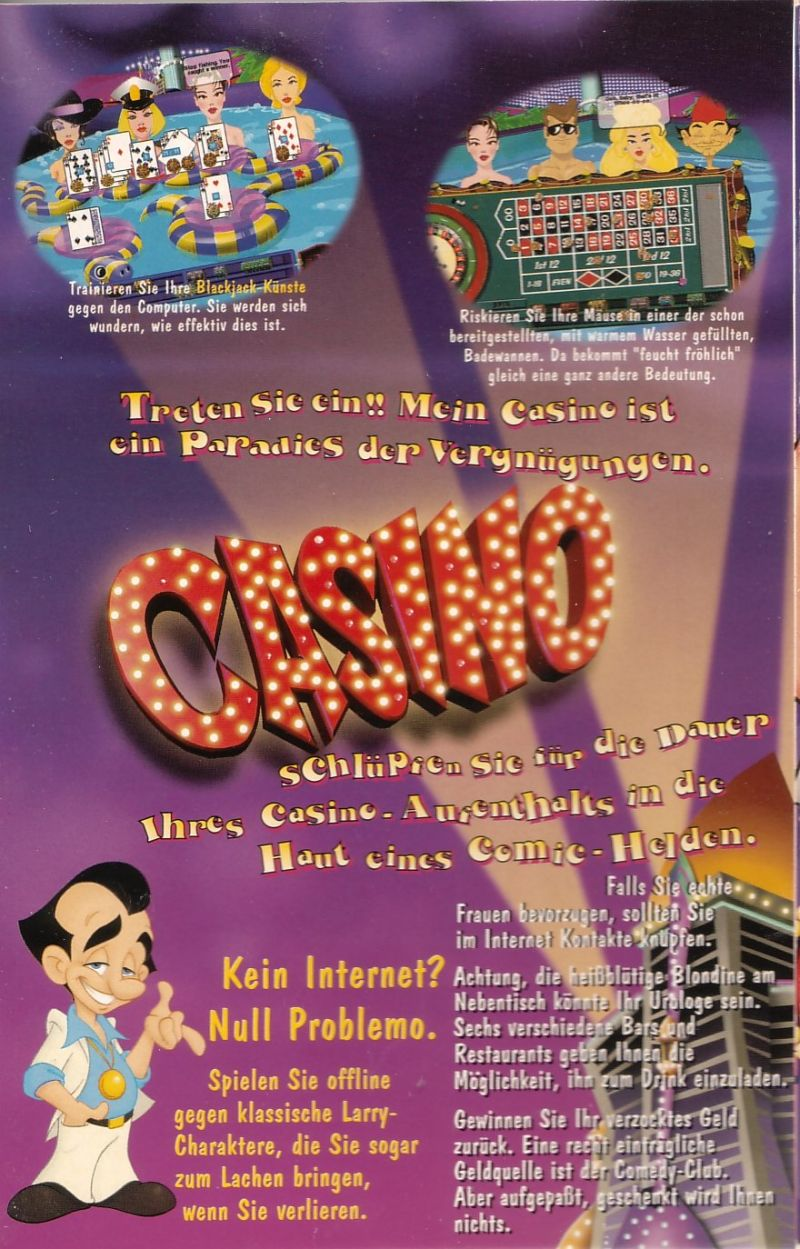 Leisure Suit Larry's Casino Windows Inside Cover Left Flap