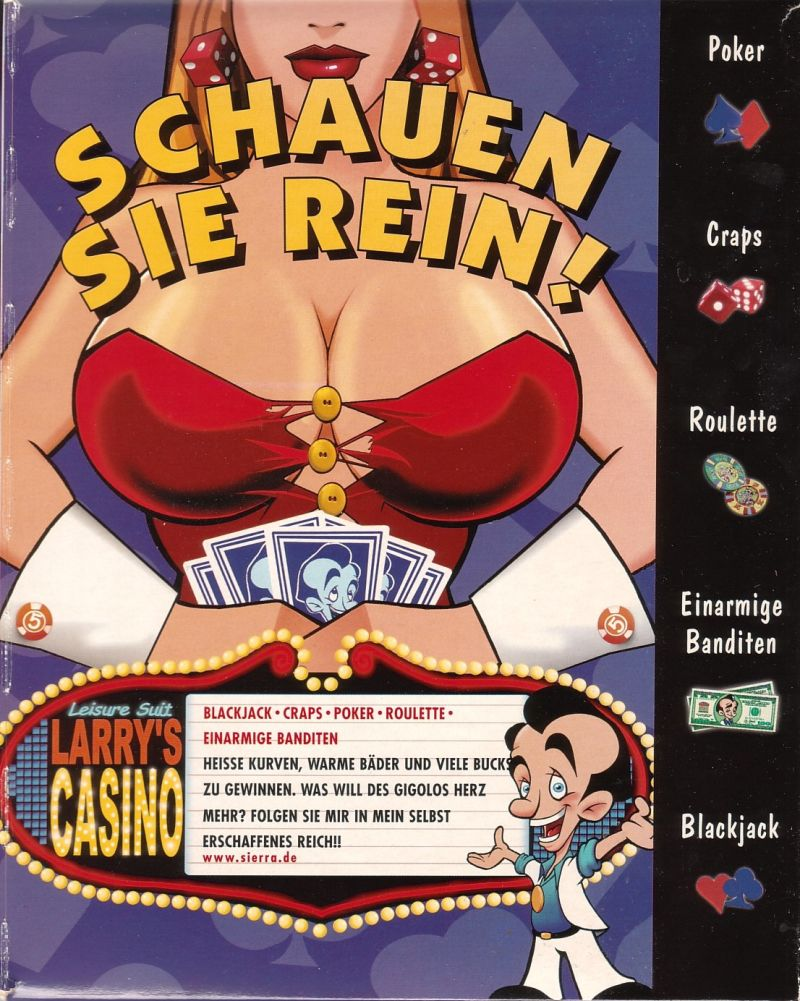 Leisure Suit Larry's Casino Windows Inside Cover Right Flap