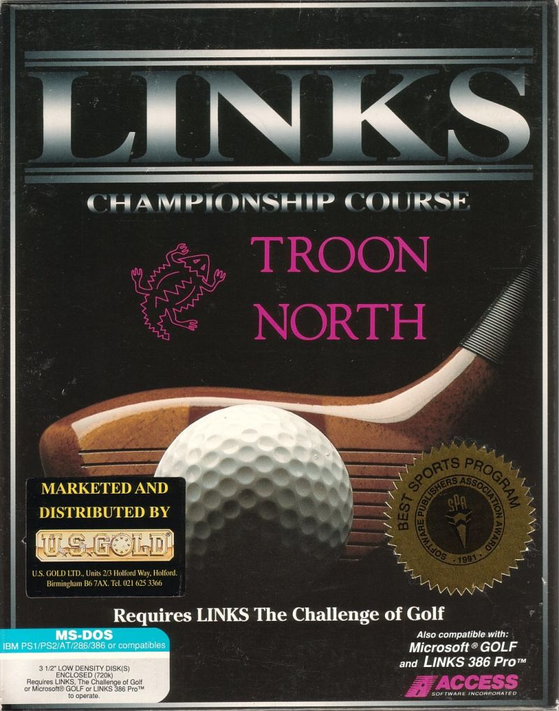 Links: Championship Course - Troon North DOS Front Cover