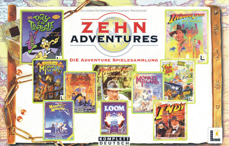 Zehn Adventures DOS Front Cover