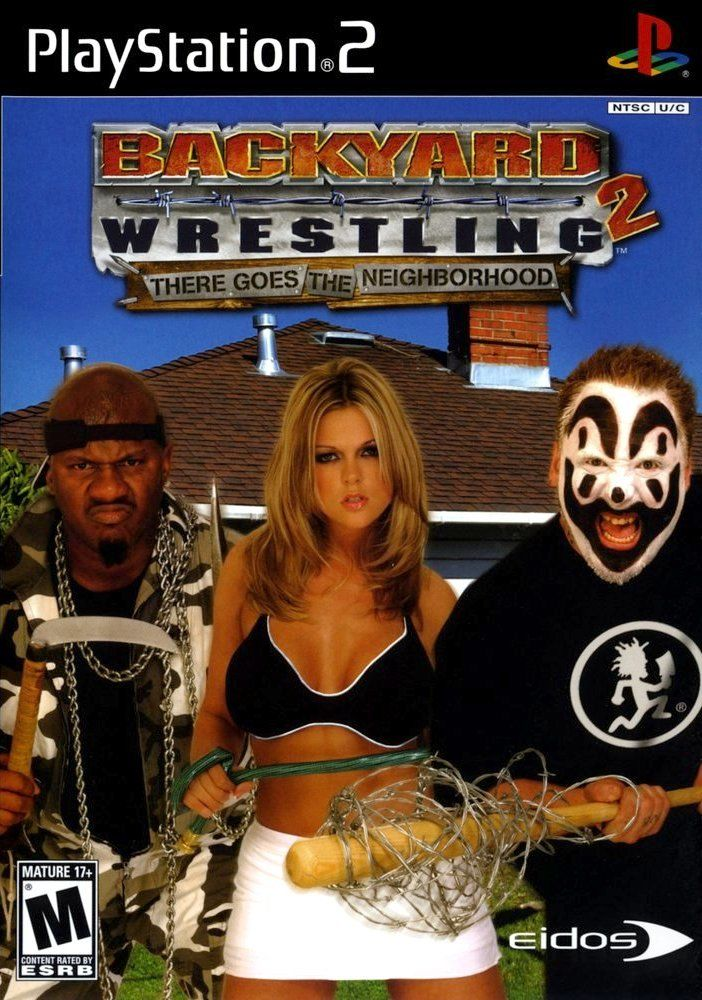Backyard Wrestling 2: There Goes the Neighborhood PlayStation 2 Front Cover