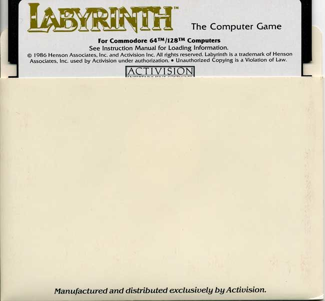 Labyrinth Commodore 64 Media