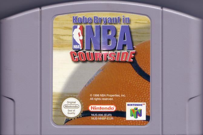 Kobe Bryant in NBA Courtside Nintendo 64 Media