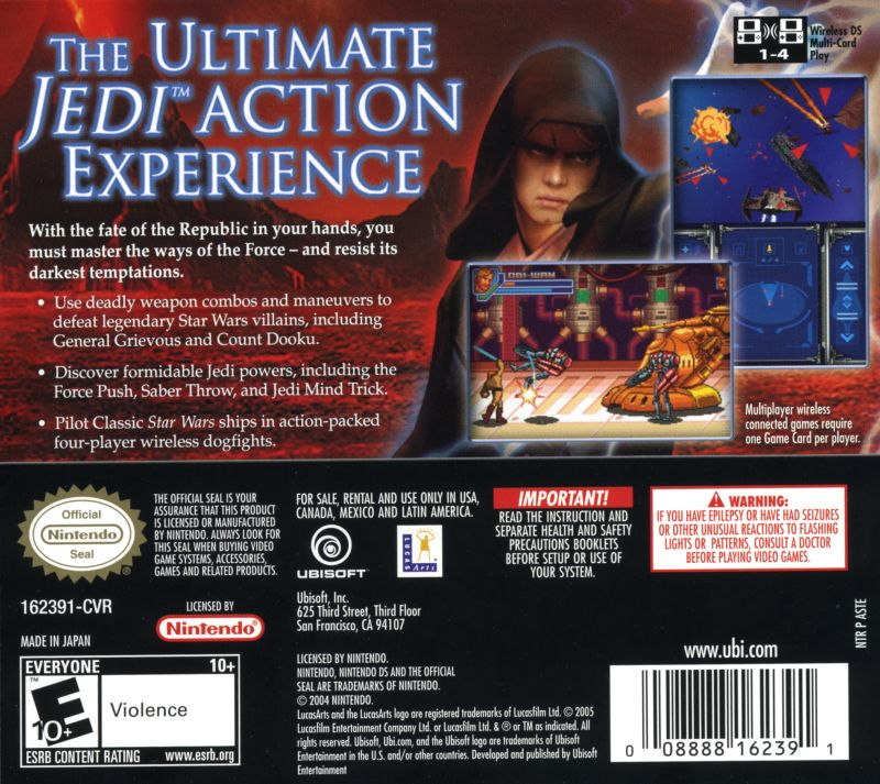 Star Wars Episode Iii Revenge Of The Sith 2005 Nintendo Ds Box Cover Art Mobygames