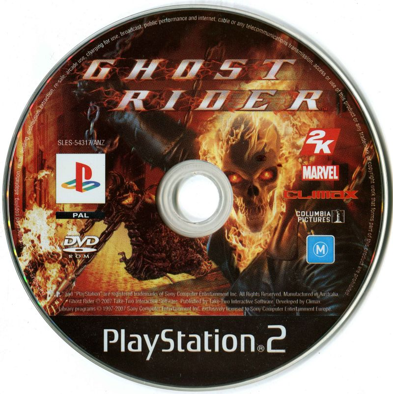 Ghost Rider (2007) PlayStation 2 box cover art - MobyGames