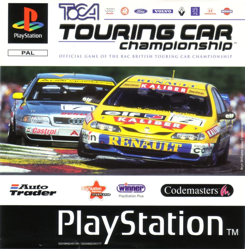 TOCA Championship Racing For PlayStation (1997)