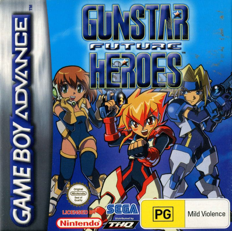 Gunstar Super Heroes (2005) Game Boy Advance box cover art - MobyGames