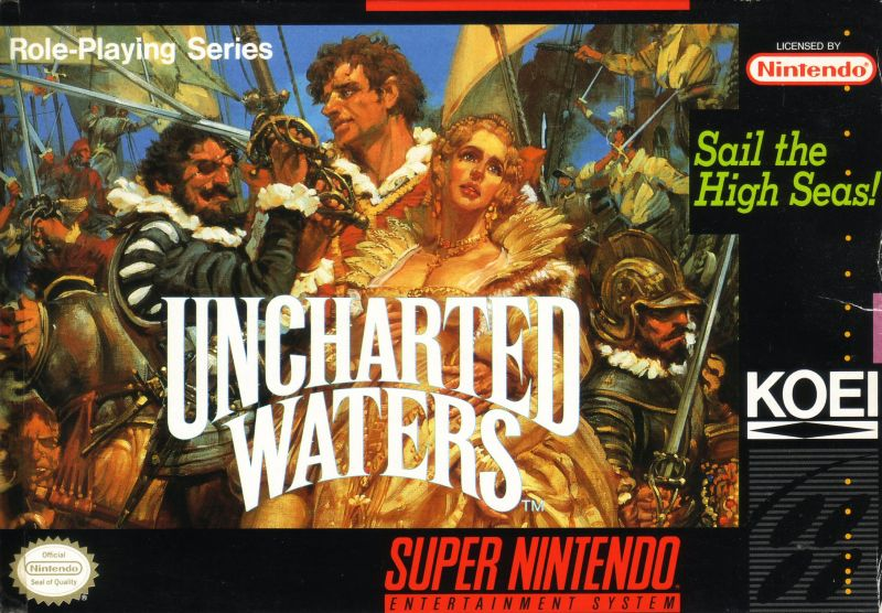 Uncharted Waters SNES Front Cover