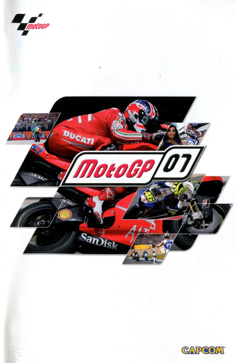 MotoGP 07 PlayStation 2 Manual Front