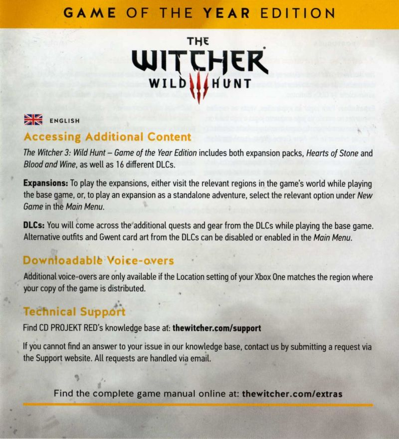 The Witcher 3: Wild Hunt - Complete Edition (2016) Xbox One