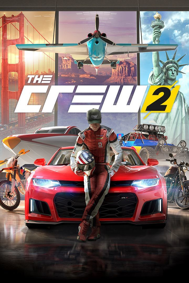 the crew 2 2018 playstation 4 box cover art mobygames. Black Bedroom Furniture Sets. Home Design Ideas