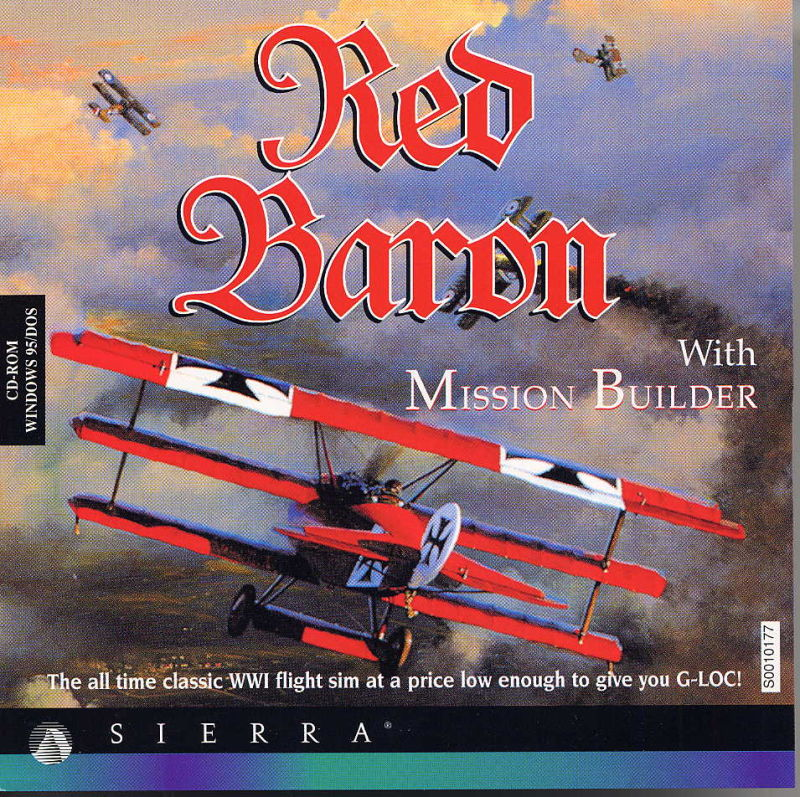 Red Baron with Mission Builder DOS Front Cover