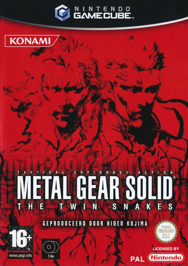 Metal Gear Solid The Twin Snakes 2004 Gamecube Box Cover Art