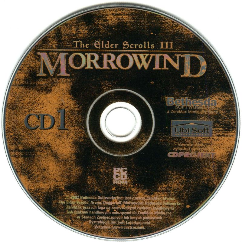 The Elder Scrolls III: Morrowind Windows Media Disc 1/2