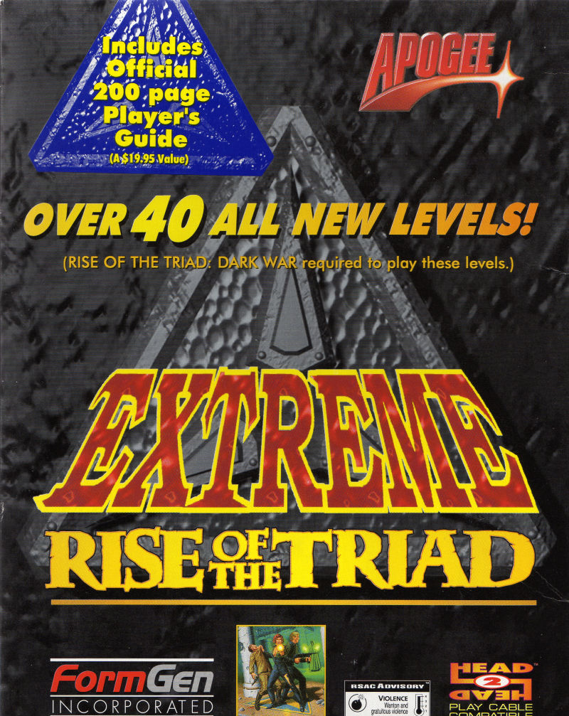 Extreme Rise of the Triad DOS Front Cover