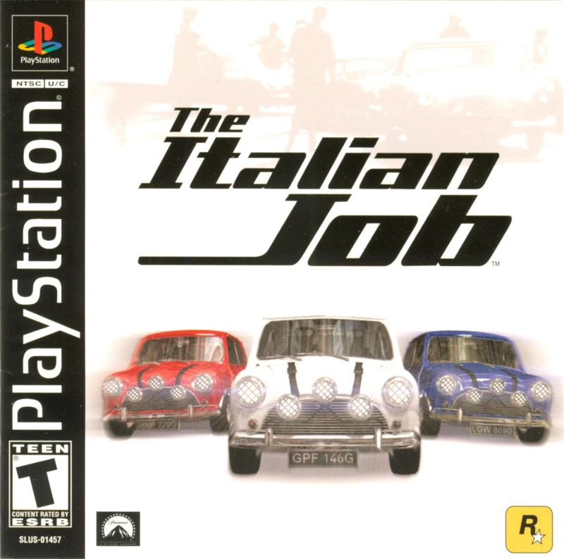The Italian Job PlayStation Front Cover