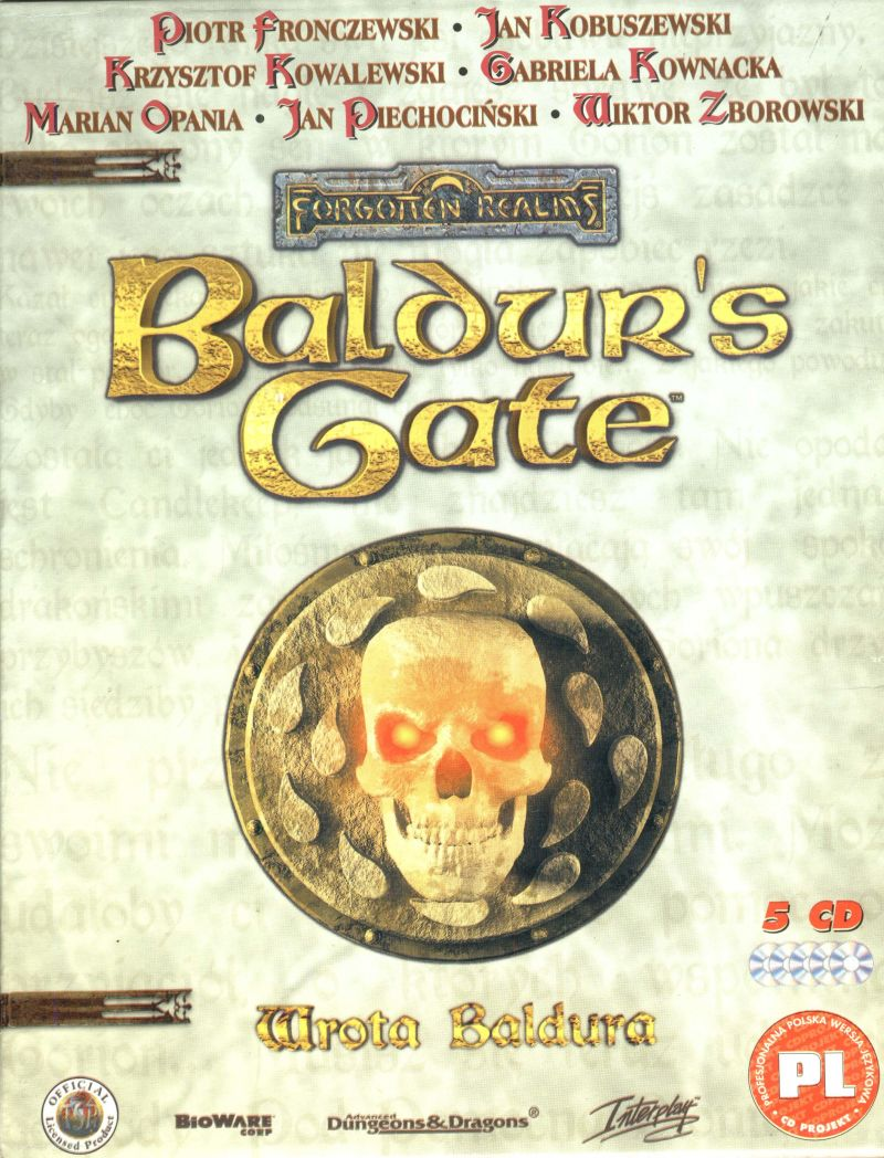 Baldur's Gate Windows Front Cover
