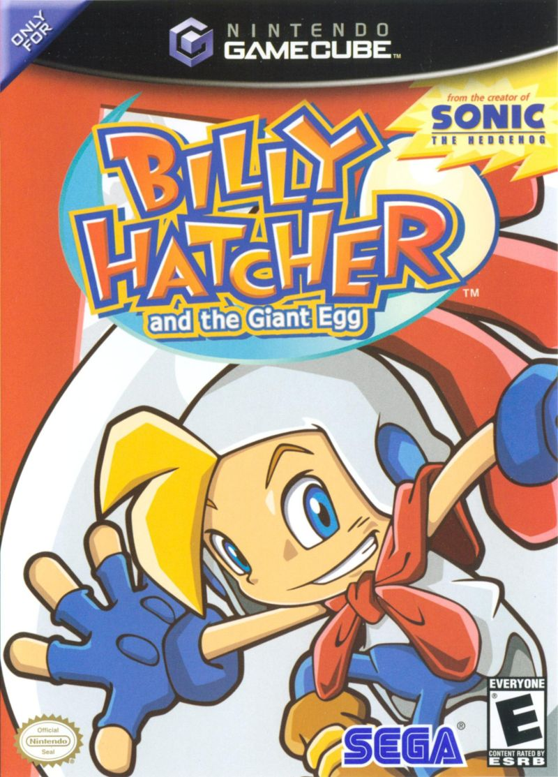 Billy Hatcher and the Giant Egg GameCube Front Cover