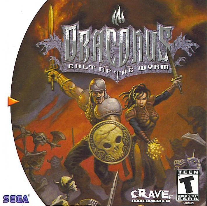 Draconus: Cult of the Wyrm Dreamcast Front Cover