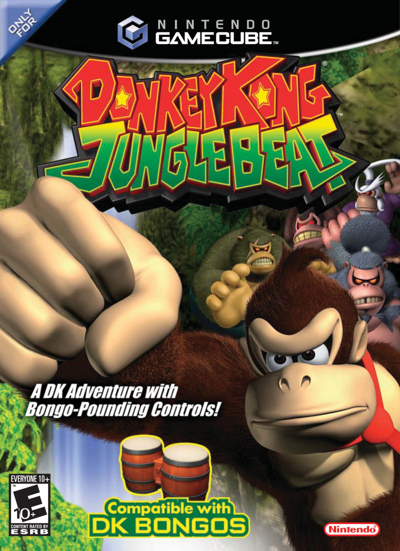 Donkey Kong: Jungle Beat GameCube Front Cover