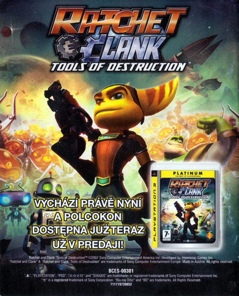 Ratchet Clank Future Quest For Booty 2008 Playstation 3