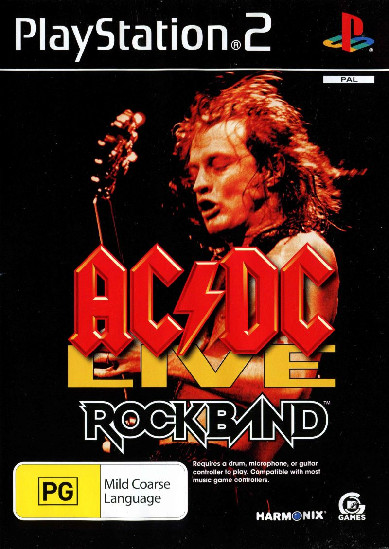 AC/DC Live: Rock Band - Track Pack (2008) PlayStation 2 box cover ...