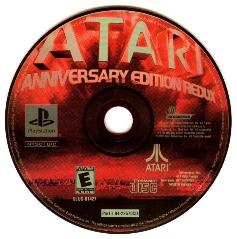 Atari Anniversary Edition PlayStation Media