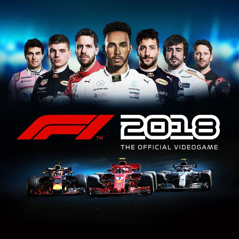 f1 2018 2018 playstation 4 box cover art mobygames. Black Bedroom Furniture Sets. Home Design Ideas