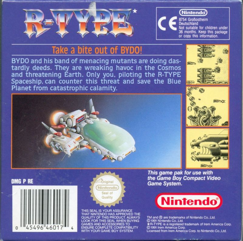R-Type Game Boy Back Cover