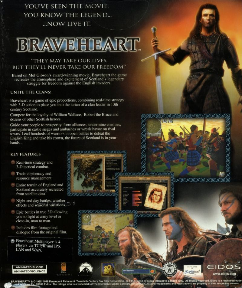 Braveheart Windows Back Cover