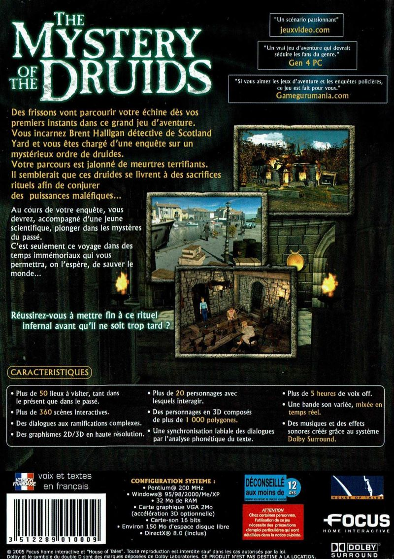 The Mystery of the Druids (2001) Windows box cover art