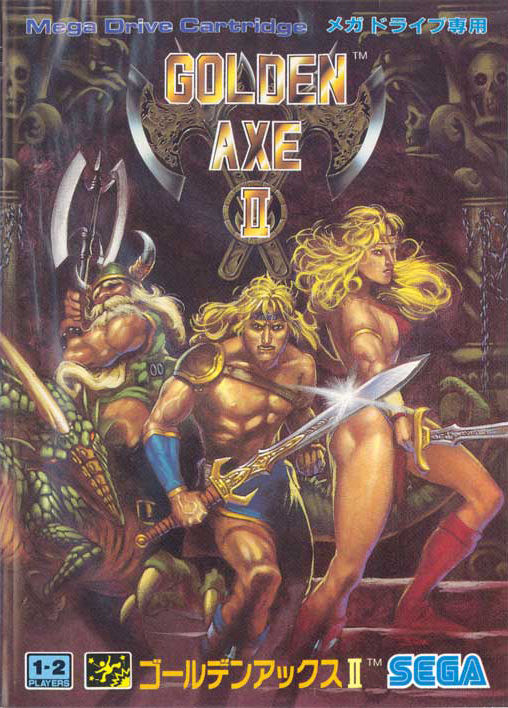 Golden Axe II Genesis Front Cover