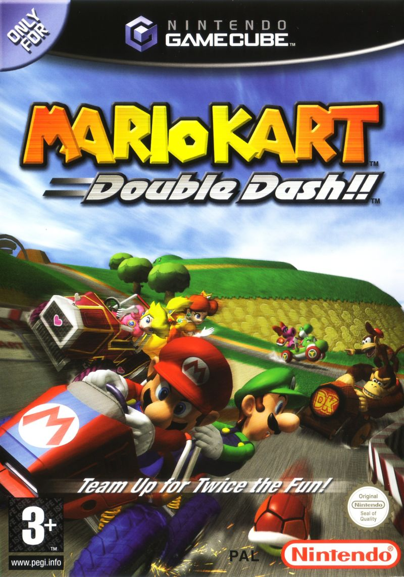 mario kart double dash game box - best gamecube games