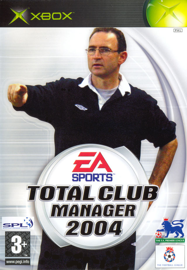 Total Club Manager 2004 Xbox Front Cover