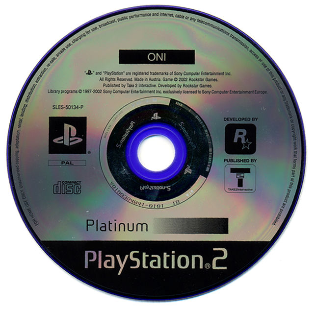 Oni PlayStation 2 Media