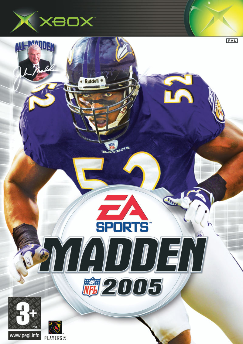 Madden NFL 2005 Xbox Front Cover