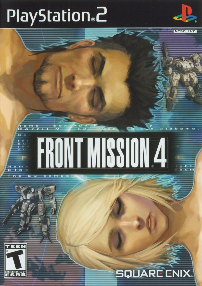 Front Mission 4 PlayStation 2 Front Cover