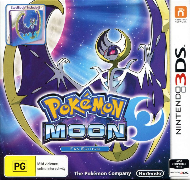 Pokémon Moon Nintendo 3DS Front Cover