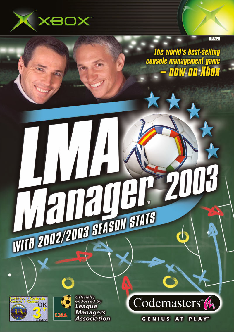 LMA Manager 2003 Xbox Front Cover