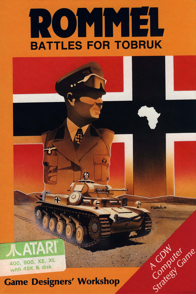 Rommel: Battles for Tobruk Atari 8-bit Front Cover