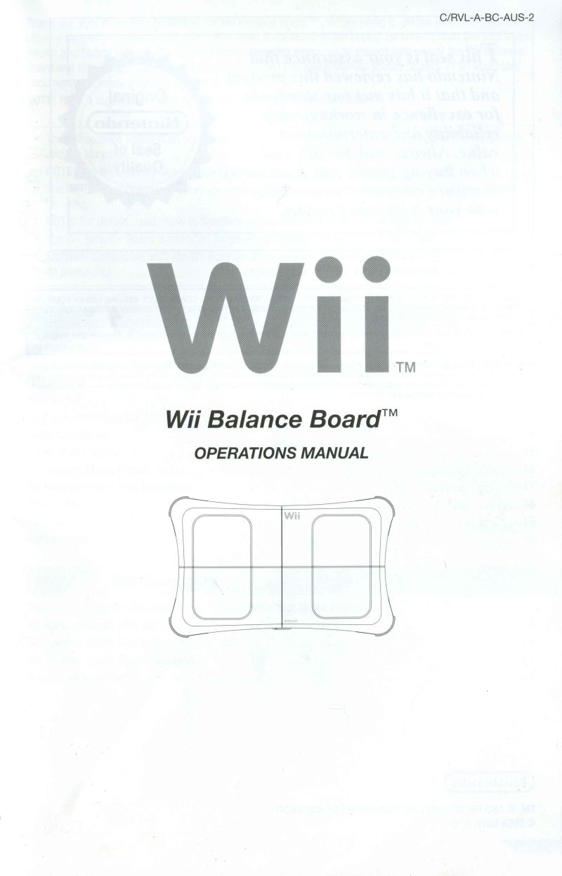 wii fit operations manual browse manual guides u2022 rh repairmanualtech today Wii Operations Manual Disc Cannot Be Read Wii U Operations Manual